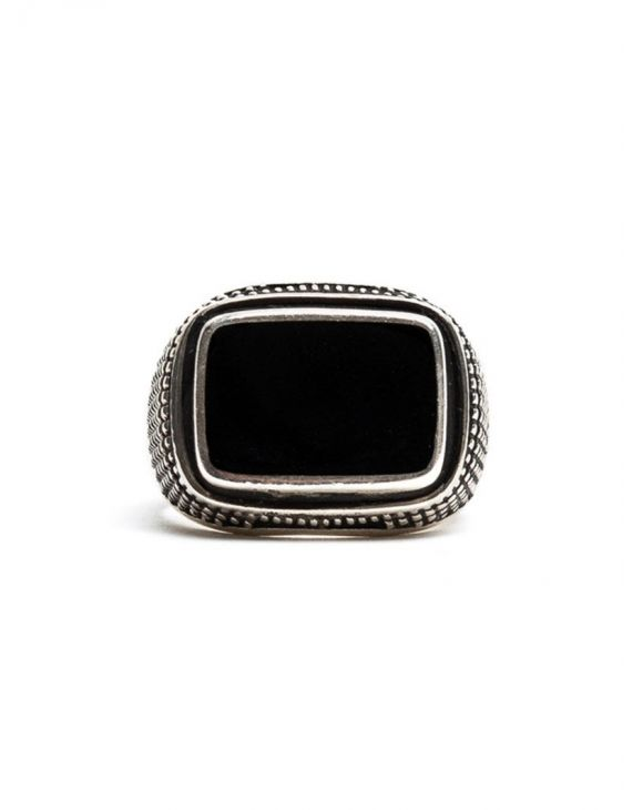 D'AMICO DUPONT RING IN BLACK AND SILVER