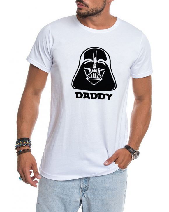 DARTH T-SHIRT BLANC POUR PAPA