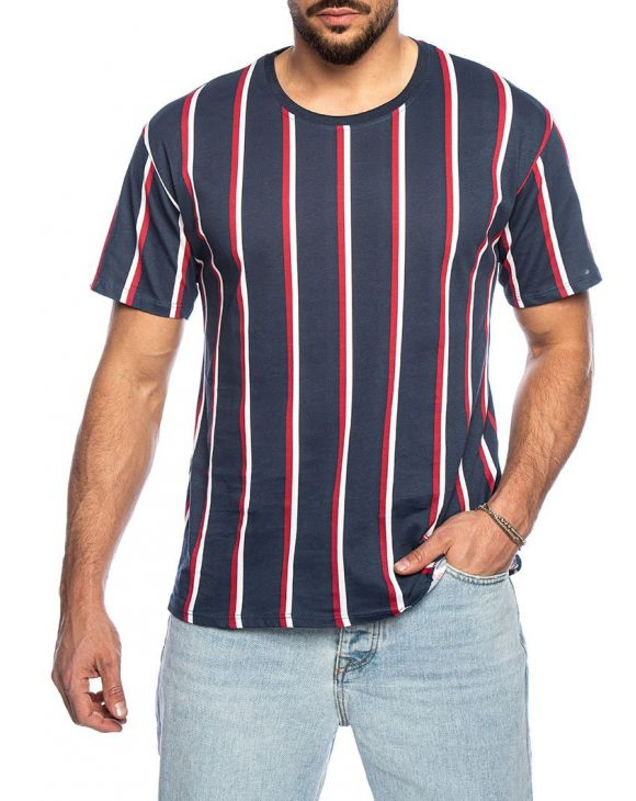 KIER STRIPED T-SHIRT IN BLUE