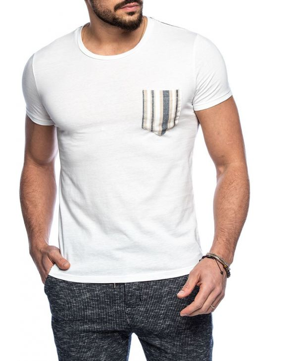 LASLEY POCKET T-SHIRT IN SNOW WHITE