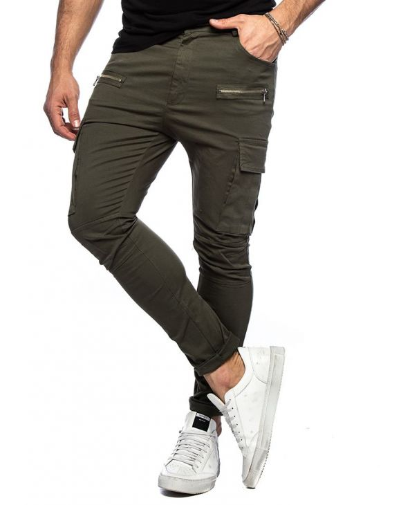 PRINCE CARGO PANTS IN GREEN