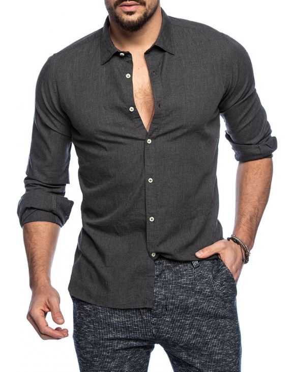 ALEXANDER SHIRT IN BLACK AND GREY