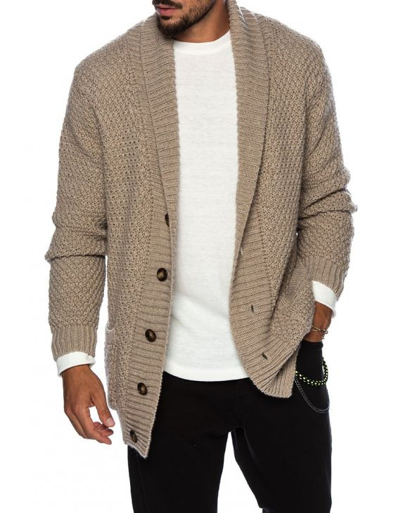 HAROLD CARDIGAN IN BEIGE