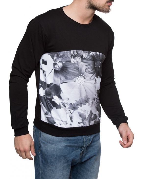 SWEAT BLACK FLOWERS - BLACK COLLECTION