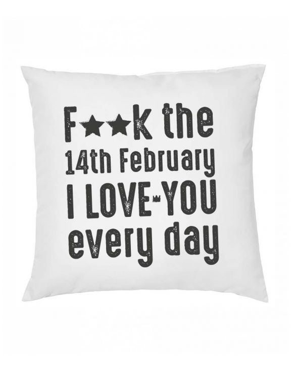 I LOVE YOU EVERY DAY ALMOHADA EN BLANCO