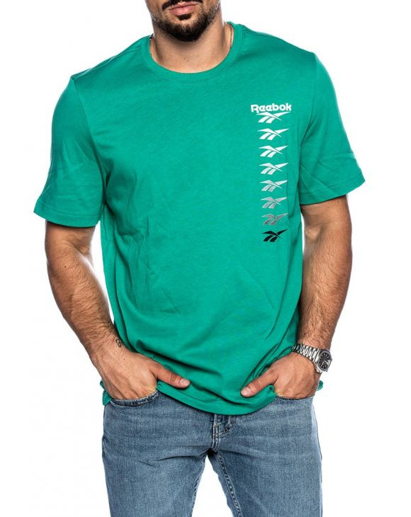 CLVP PRINTED TEE IN GREEN