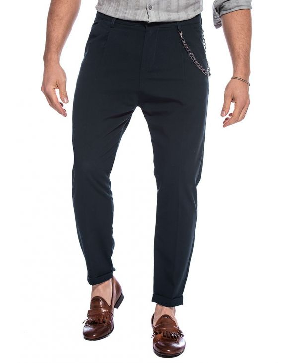 BENJAMIN CASUAL PANTS IN DARK BLUE