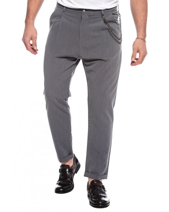 BENJAMIN CASUAL PANTS IN GREY