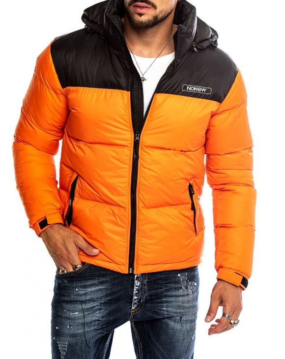 STORMI DOWN JACKET IN ORANGE BLACK