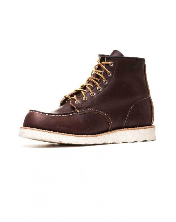 CLASSIC MOC LEATHER BOOTS IN BROWN