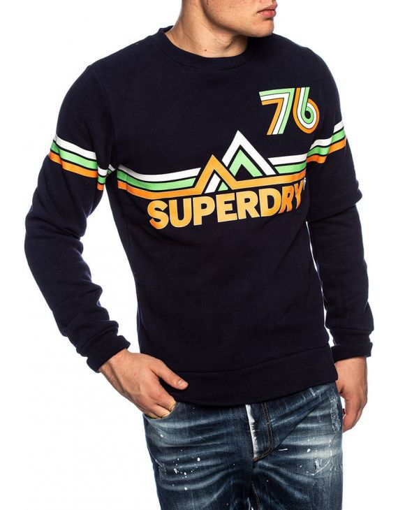 DOWNHILL RACER SWEAT-SHIRT EN BLEU