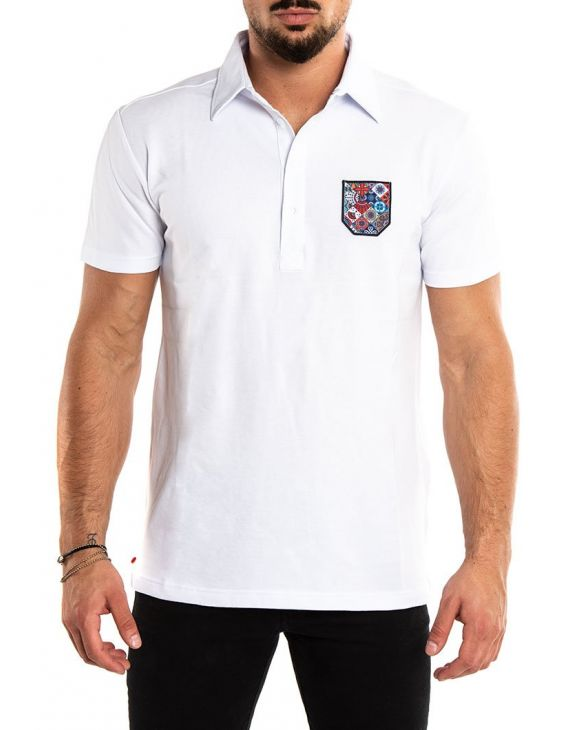 MICRO POCKET POLO IN WHITE