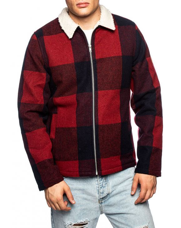 RVLT SHIRT JACKET IN RED