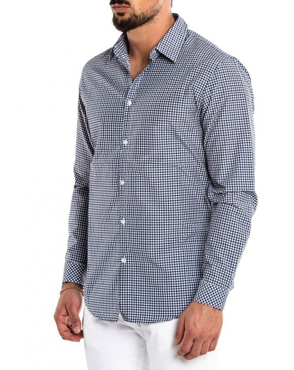 CHECKED SHIRT EN BLU Y NEGRO
