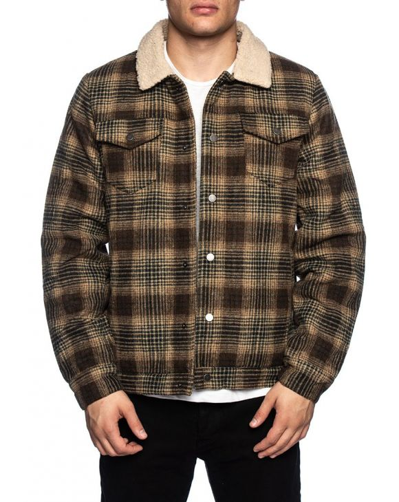 AKALFREDO CHECKED JACKET IN GREEN