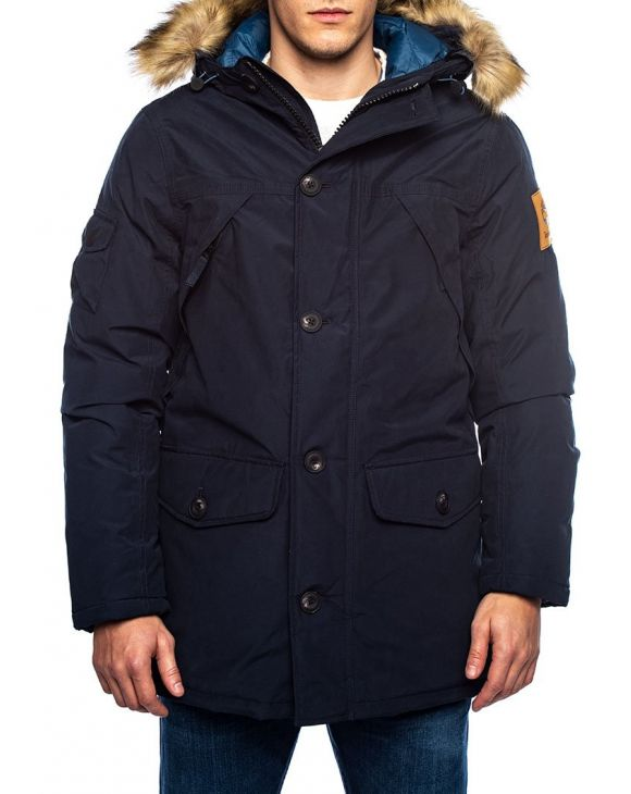 KELSEY COTTON PARKA IN BLAU