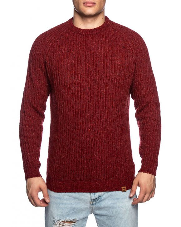 LS LAMBWOOL SWEATER IN BORDEAUX