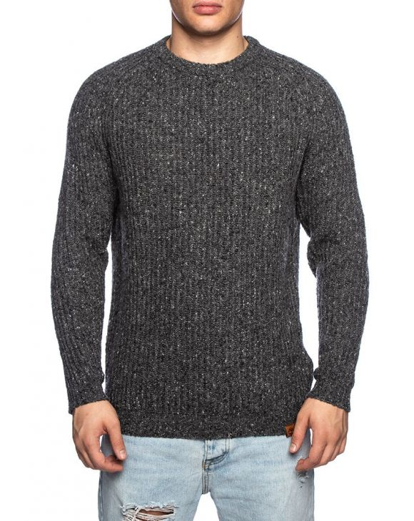 LS LAMBWOOL SWEATER IN DUNKELGRAU