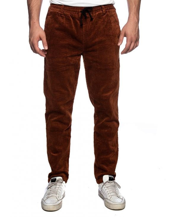 AKBOBBY CORDUROY PANTS IN RUST