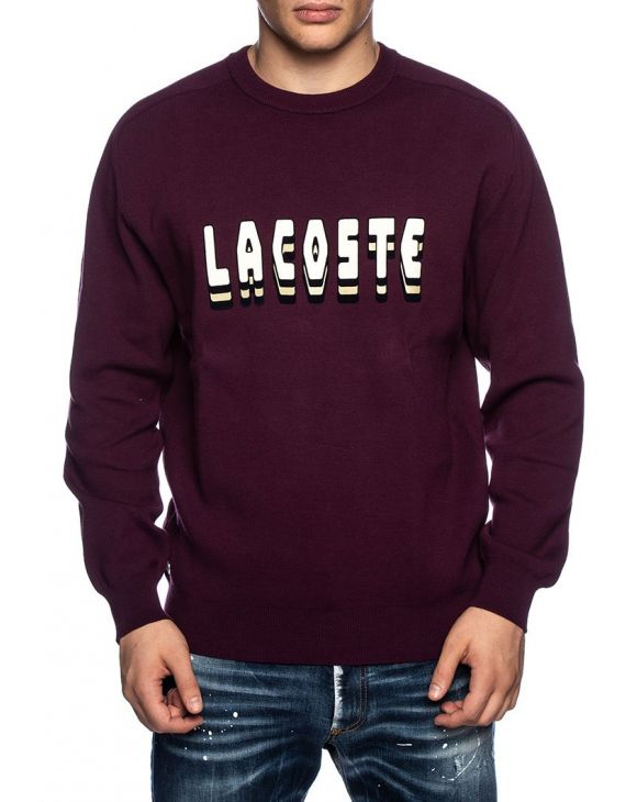 LACOSTE SWEATSHIRT IN BORDEAUX