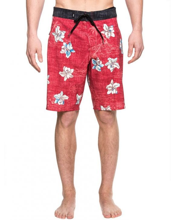 MN HAWAII FLORAL BOA SWIMWEAR IN RED