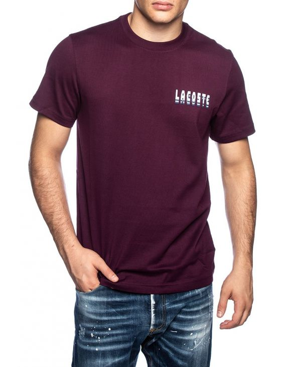 LACOSTE T-SHIRT IN BORDEAUX