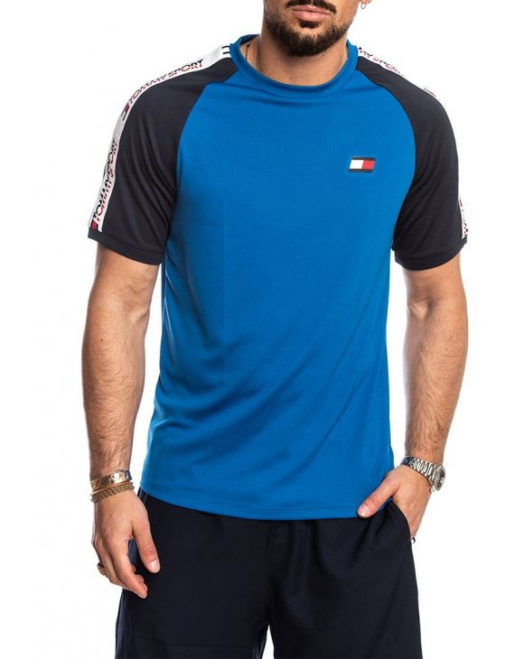 TOMMY SPORT T-SHIRT EN BLEU COLOR BLOCK