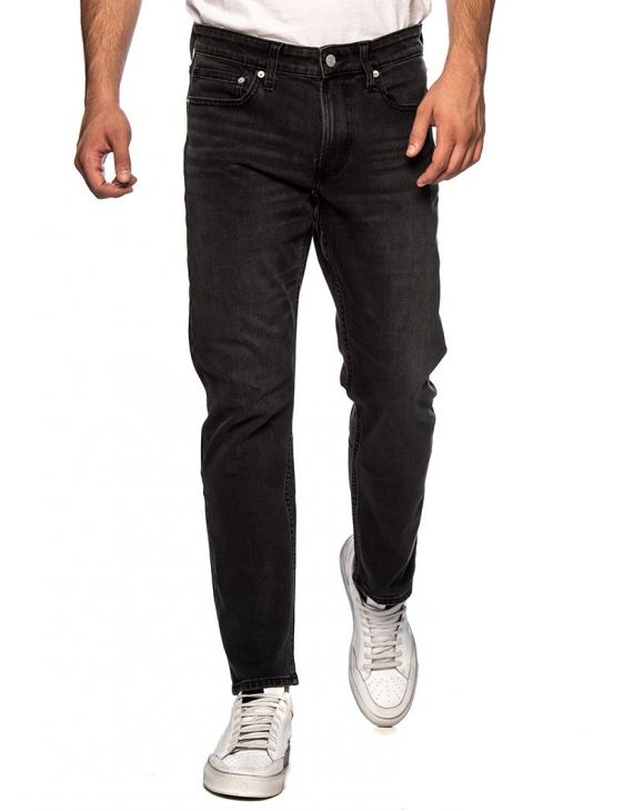 CKJ 026 SLIM CROPPED JEANS IN GRASSLANDS BLACK