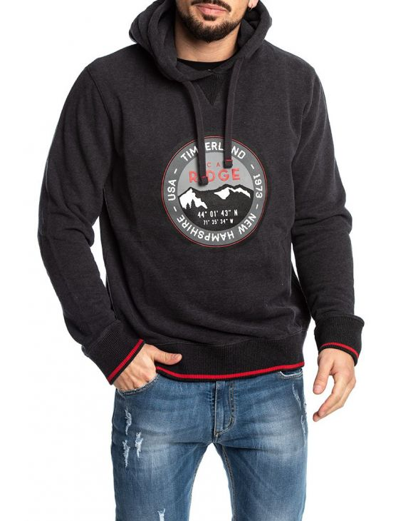 BRUSHBACK COLLEGIATE PHANTOM SWEATSHIRT IN GRAU