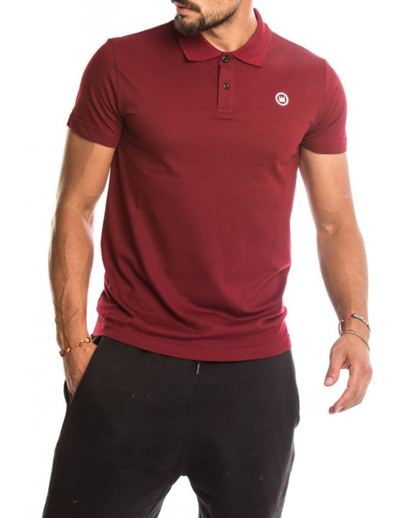 EDWARD POLO IN AUBERGINE