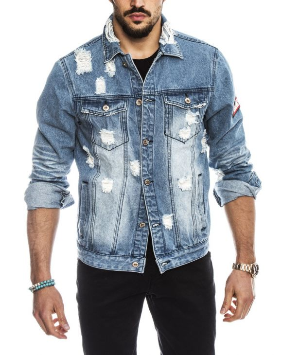 ERMAL S.O.S. JEANS JACKET IN LIGHT BLUE