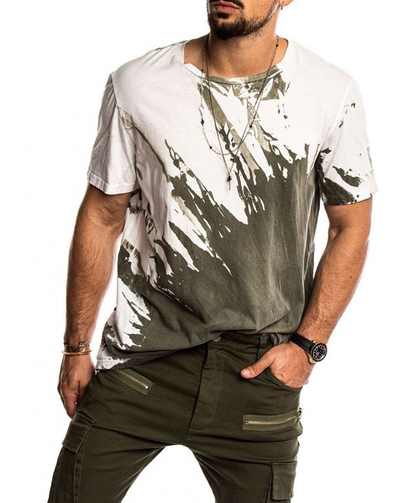 KENTON PRINTED T-SHIRT IN WHITE