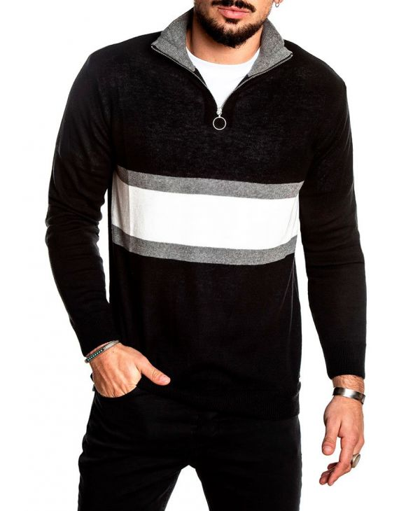 LORES SWEATER IN BLACK AND GREY