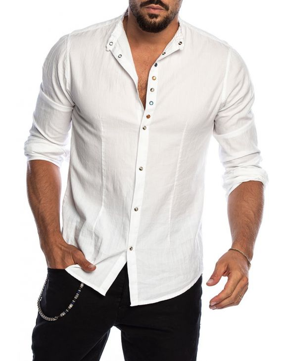 TEX CASUAL SHIRT IN WHITE