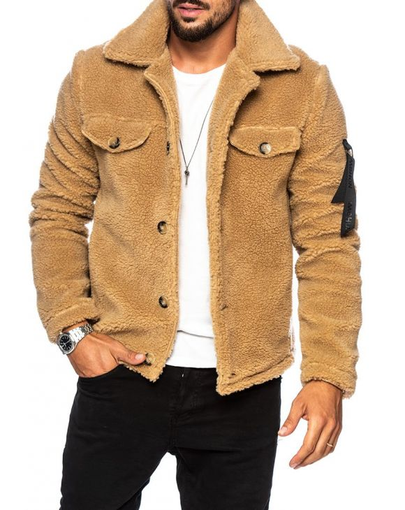 MIKE SHEARLING JACKET IN CAMEL