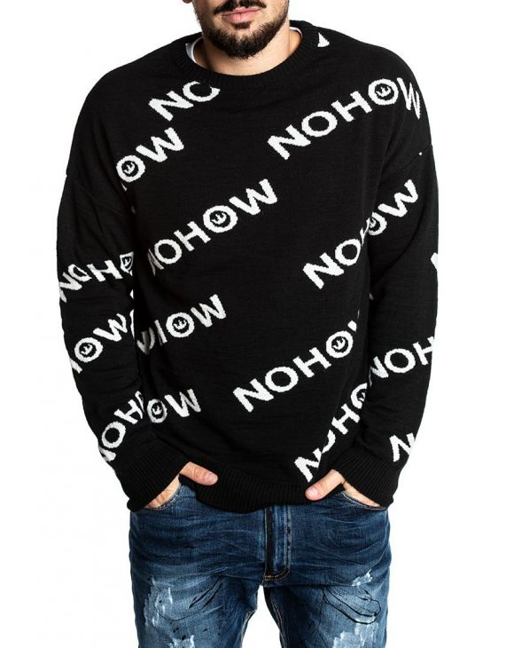NHW LOGO SWEATER IN BLACK