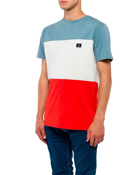 BASIC T-SHIRT IN RED AND LIGHT BLUE